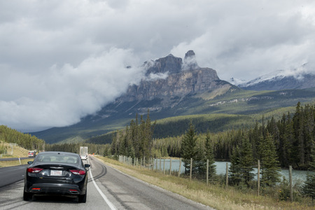 A preview of the beauty to come at the very beginning of the Icefields Parkway in Banff National Park, Alberta, Canada.