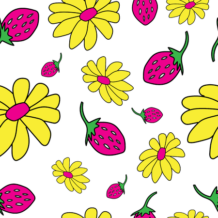 Vector pattern with flowers. Floral illustration.Seamless pattern.