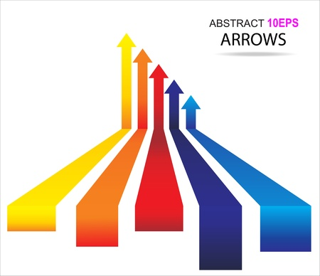 Colored arrows Illustration