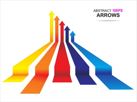 Colored arrows Illustration