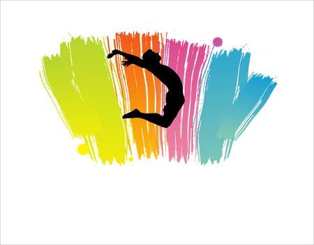 exaltation: Jump, Party People. Vector illustration. Illustration