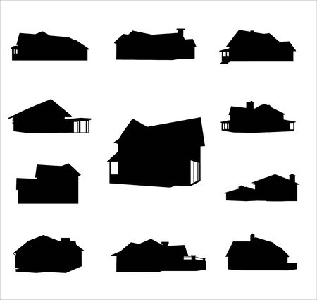 Detailed vector silhouettes home