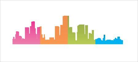 Detailed silhouettes of world city Archivio Fotografico - 132205820