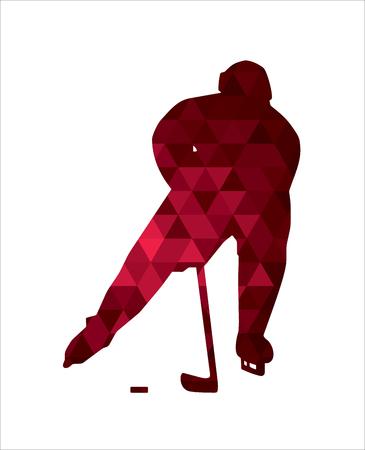 Hockey sobre hielo silueta del jugador
