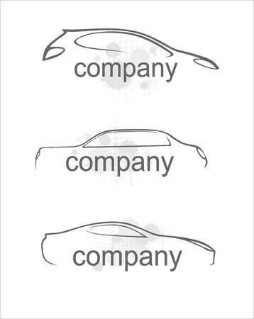 lifelike: Car silhouette on a white background. Vector art in EPS format.