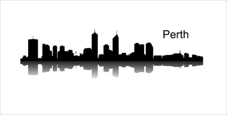 Detailed vector Perth silhouette skyline