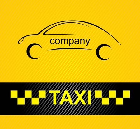 rather: Racing orange background, taxi cab cover template