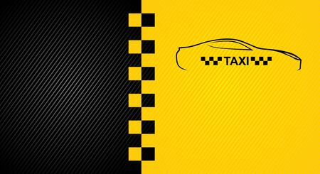 checkerboard backdrop: Racing orange background, taxi cab cover template