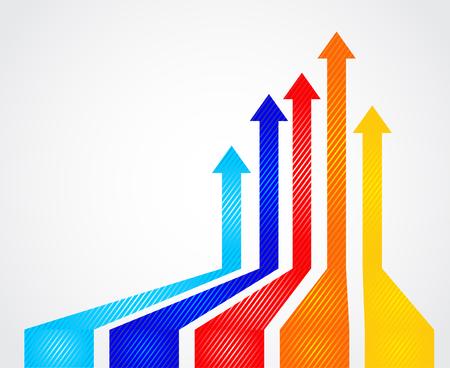 onwards: Colored arrows vector