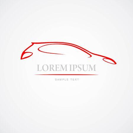 coche: abstract auto Illustration