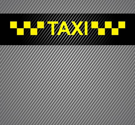 rather: Taxi cab background, racing blank template Illustration