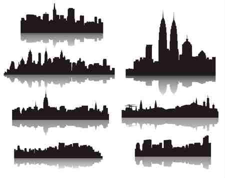city ??silhouettes Illustration
