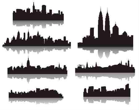 city ??silhouettes Illustration