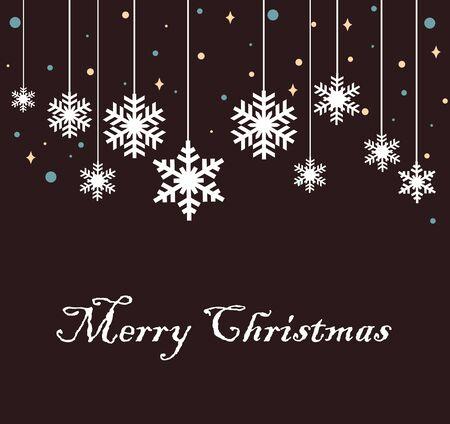 Happy New Year greeting card. Snowflake Illusztráció