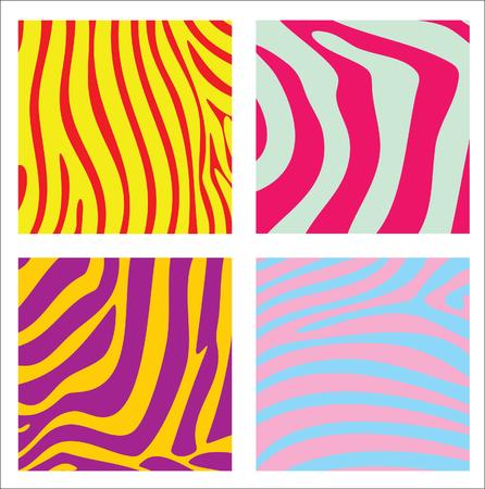 Kleurrijke gestreepte achtergronden. Vector illustratie.