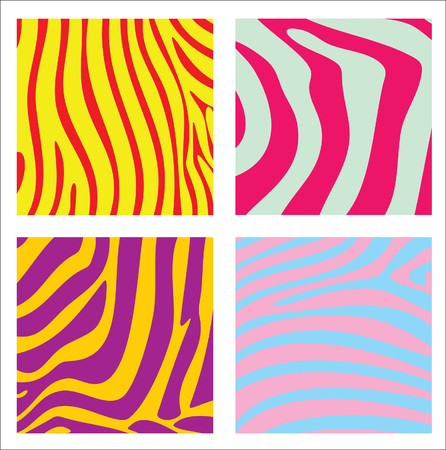 Colorful striped backgrounds. Vector illustration.