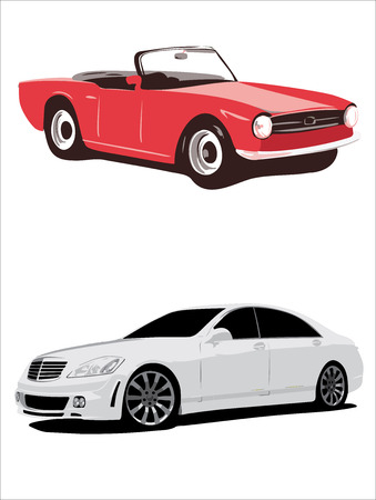 Realistic car icons