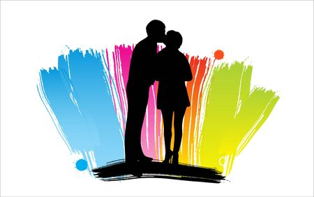 Romantic People silhouettes