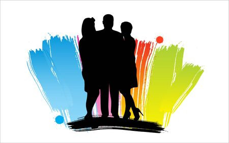 People family silhouettes