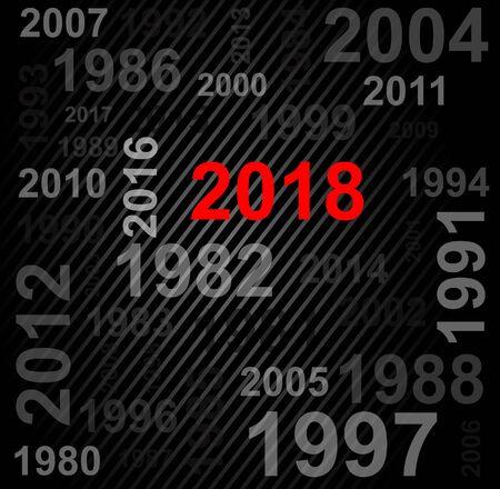 Happy New Year 2018 Text Design