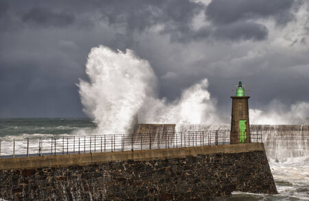 wind, rain and waves on the Cantabrian coast photo