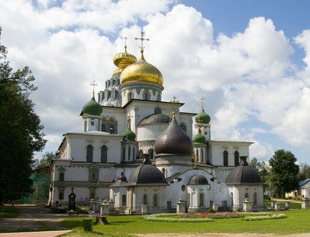 The new Jerusalem Voskresensky monastery Stock Photo