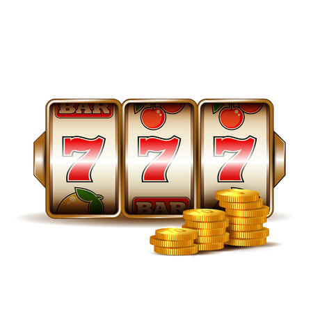 Casino gokautomaat met munten.