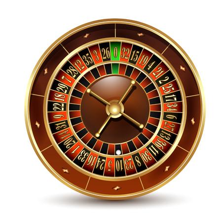 Casino roulette wheel. Vector illustration. Ilustração