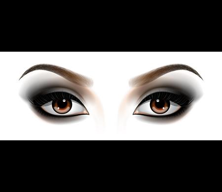 Smokey Augen Make-up Vektorgrafik