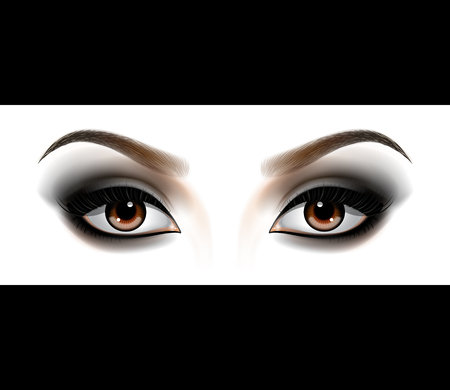 Smokey eyes makeup. Illustration