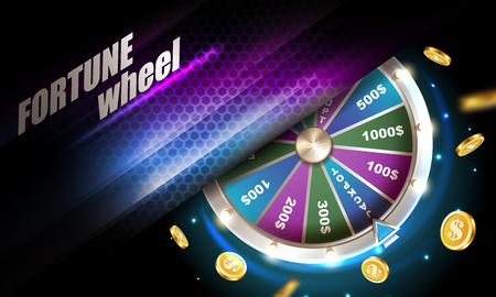 Wheel of fortune gambling background