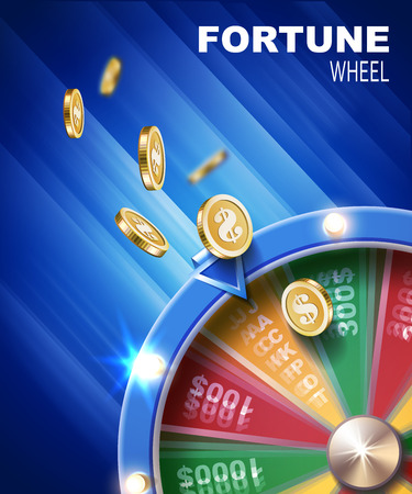 Wheel of fortune gambling background