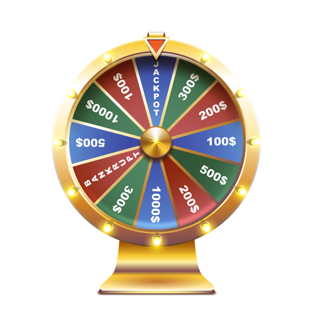 Wheel of fortune isolated vector illustration Vettoriali