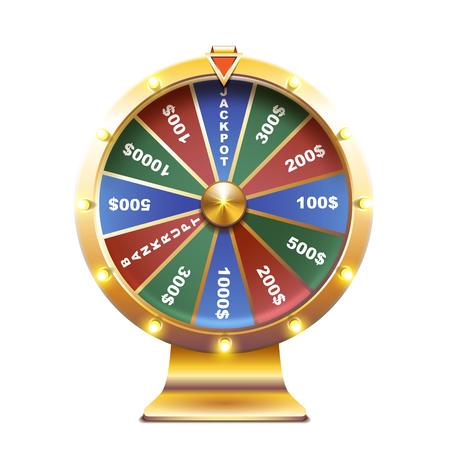 Wheel of fortune isolated vector illustration Illustration