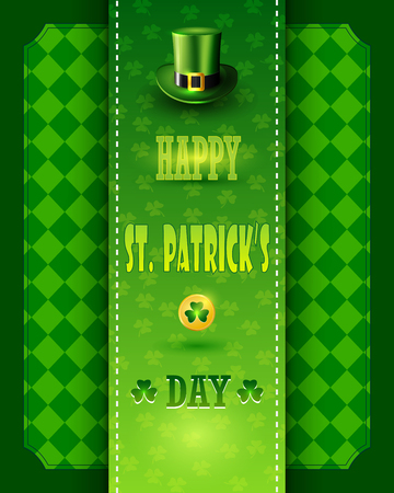 St. Patricks Day card with Leprechaun green hat.