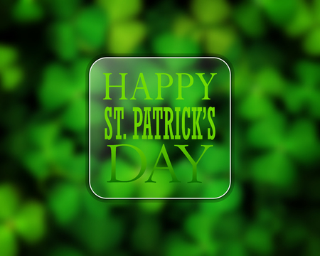 St. Patricks Day greeting card with shamrock.