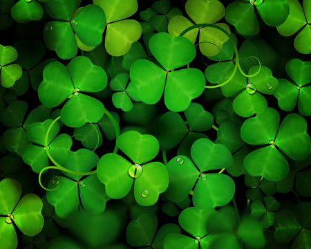 Spring background with clover. St. Patricks day. Ilustrace