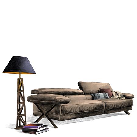 Leather living room set.