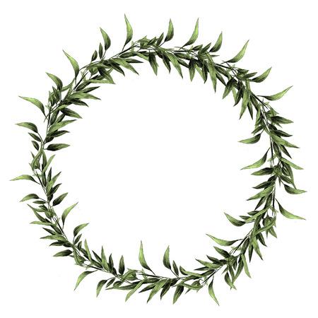 Eucalyptus leaf branch frame design.