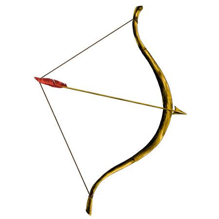 矢印ペンスケッチベクトルグラフィックスカラー画像で弓