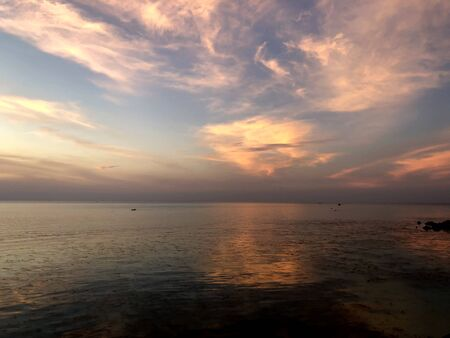 sea and beautiful sunset with clouds 写真素材 - 99573140