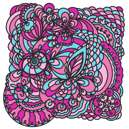 Image of lace pattern of lines vector colored drawing Illustration