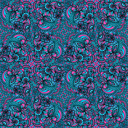 print texture with lace pattern image from lines vector colored drawing
