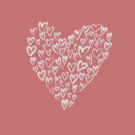 Brush painted vector heart.