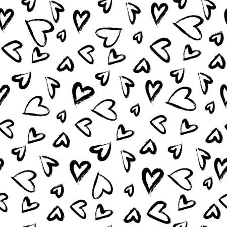 Seamless pattern with hearts. Иллюстрация