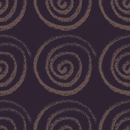 Seamless hand drawn pattern with spirals.
