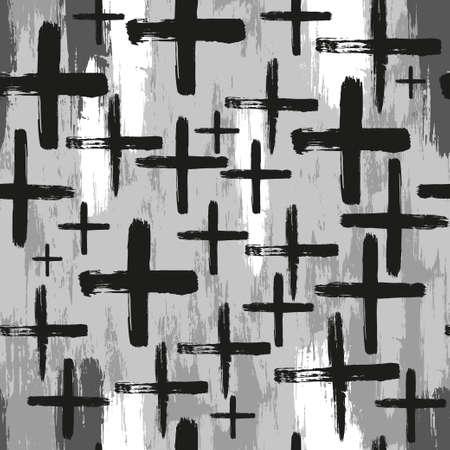 Seamless vector brush cross pattern.