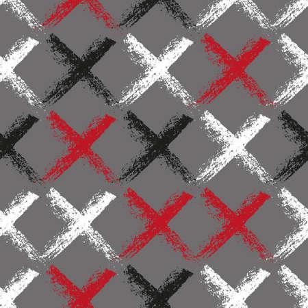 Seamless vector scandi chalk pattern.
