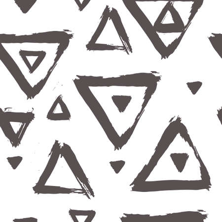 Seamless vector pattern with brush stroke shapes.