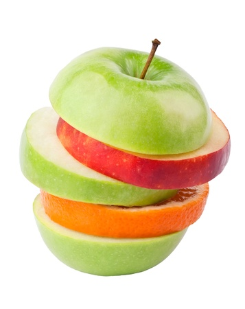 Multifruit on white background